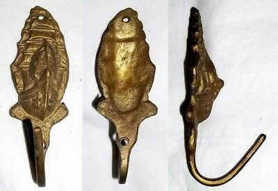 CUTTY SARK ~ CAST BRASS Figural BRITISH CLIPPER SHIP WALL MOUNT COAT or HAT HOOK