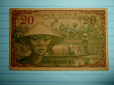 FRENCH INDO CHINA - NOTE - 954108 - 1939 BOAT GIRL HAT - VIETNAM WAR WWii - 4957