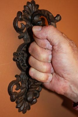 (1) Large Ornate Lion Head Entry Door Pull, Lion Gate Pull, Vintage-look, HW-21