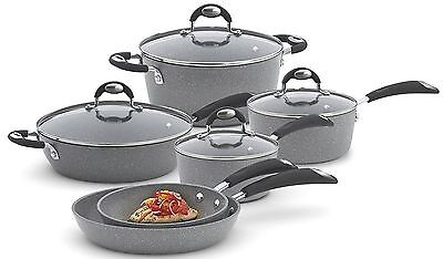 Bialetti Granito X-TRA 10 Piece  Nonstick Cookware Set  NEW