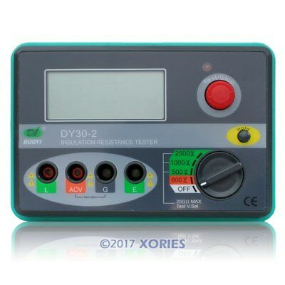 2.5KV Insulation Megohmeter Resistance Tester 0~20GΩ High-Performance Brand NEW