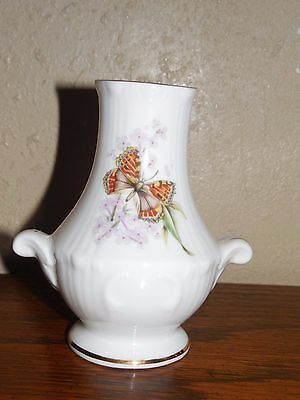 Royal Grafton ~ Butterfly ~ Miniature ~ Urn / Vase ~ England ~ Vintage ~ 3.5""