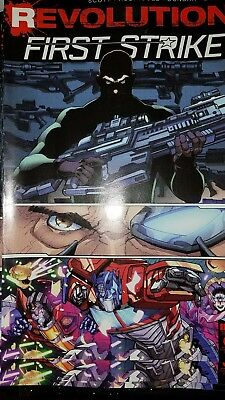 SDDC IDW REVOLUTION FIRST STRIKE issue 0 BOOK TRANSFORMERS GI JOE MASK