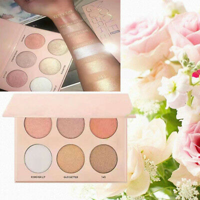 Makeup Face Contour Pressed Powder 6colors bronzer and Highlighter powder palett
