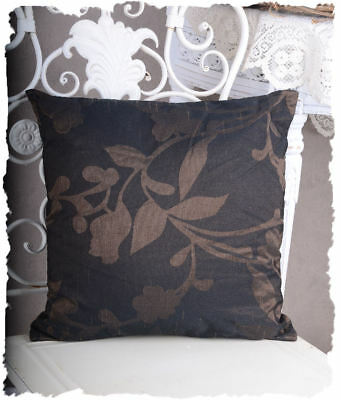 Vintage Cushion Country House Style Decorative Cushion incl. Filling Chocolate
