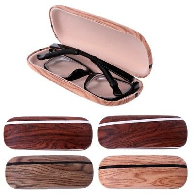 Portable Wood Grain Hard Eye Glasses Case Box Eyewear Sunglasses Protector Bag