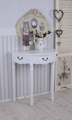 Sideboard Table White Wall Shabby Chic Console Telephone Vintage