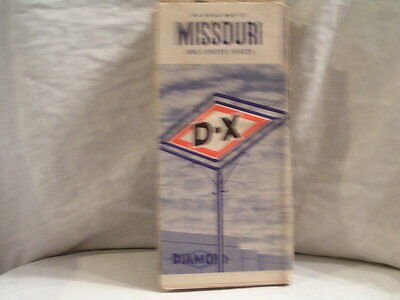 1940's D X Road Map For Missouri