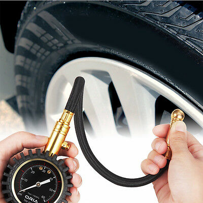 Best Flexi-Pro Tyre Pressure Gauge with bleeder valve, Car Motorbike - 60 PSI /w
