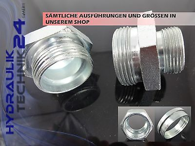 Hydraulic Straight Red Reducing Fitting 12L/8L