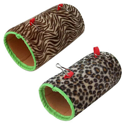 Pet Tunnel Hammocks Hanging Bed Snuggle Plush for Small Birds Rat Parrot Mouse