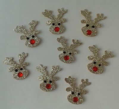 Crafts for Occasions Christmas Glittery Rudolph Reindeer Heads with Red Noses