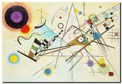 """WASSILY KANDINSKY A4 CANVAS PRINT poster 8""""X 12"""" composition"""