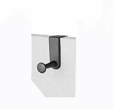 Quartet Over-The-Panel Hook, Single Post, 4.5 Inches, Black 20701