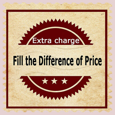 Make up the difference of price, for tracking code, tailor-made item or shipping
