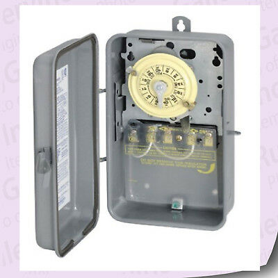 Intermatic Mechanical Time Switch 208-277-Volt DPST 24 Hour Outdoor Indoor T104R