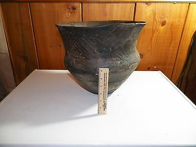 Authentic Huge Texas Caddo Engraved Spittune Indian Artifact Pottery