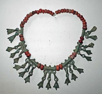 VIKING era BRONZE & GLASS BEAD NECKLACE - circa 800 to 1000 AD - Boxed Set