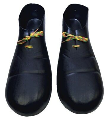 "15"" Huge Black Plastic Clown Shoes Big Jumbo Parade Party Costume Accessory Prop"