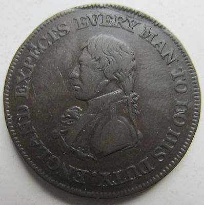 Great Britain, Sheffield 1811 Half Penny Token 1/2d Every Man to Do His Duty