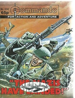The Nazis Have Landed,commando For Action And Adventure,no.3242,war Comic,1999