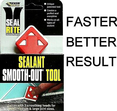 Smooth Out Silicone Sealant Caulk Finishing Smoothing Seal Rite Tool Everbuild