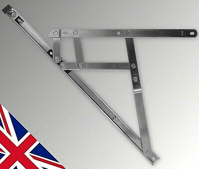"""16"""" 400mm Side Hung 17mm Window Friction Hinges One Pair stays upvc pvc Glazing"""