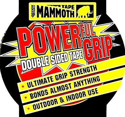 DOUBLE SIDED TAPE 12mm 25mm 50mm Heavy Duty Strong Adhesive Sticky EVERBUILD