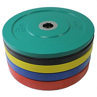 Evinco Olympic Bumper Plate with Metal Hub Centre 5 - 25KG