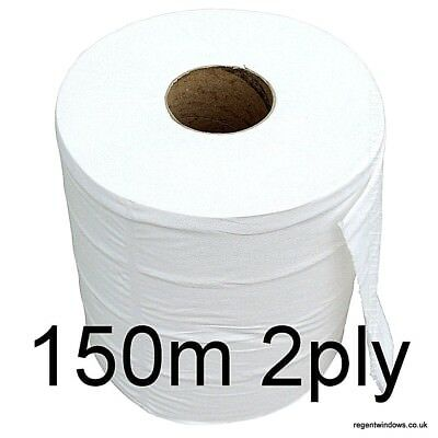 2Ply 150m Paper Towel Roll Industrial Office Cleaning glass wipe rag centrefeed