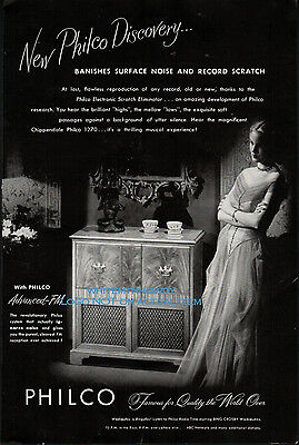 1947 PHILCO Console Tube Radio Model 1270 PRINT AD