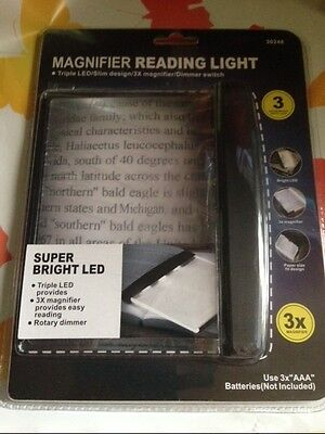 Full Page Magnifier Reader X3 Bright Led Light Paper Size Fit Design New Item