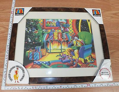 McDonald's 1998 Limited Edition Ronald McDonald Collectible Framed Print *READ*