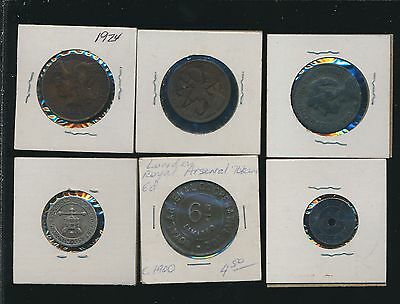 World Medals & Tokens  -  Better Lot - (6) Lot #j5