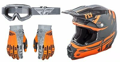 Fly Racing Carbon Forge MIPS Helmet Evolution 2.0 Gloves Focus Goggles Motocross