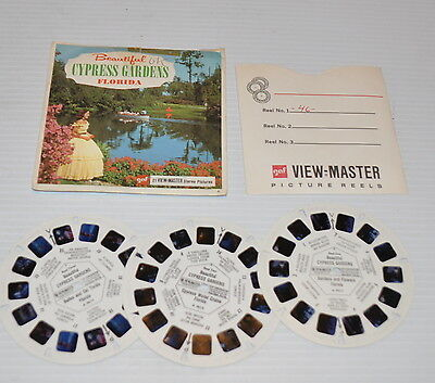 - CYPRESS GARDENS FLORIDA VIEW-MASTER Reels with Packet A-961 -