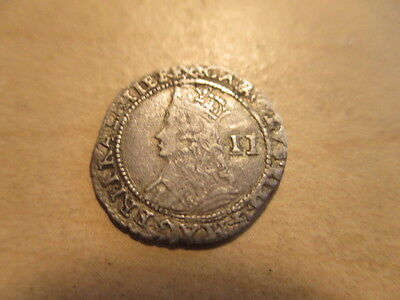 King Charles Ii Silver 1/2 Groat (1660-1685)...great Britain Hammered Penny Coin