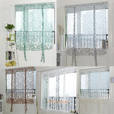 Hot Sell Floral Scarf Sheer Voile Door Window Curtain Drape Panel Tulle Valances