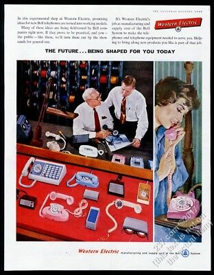 1958 Western Electric Princess phone other future models photo vintage print ad