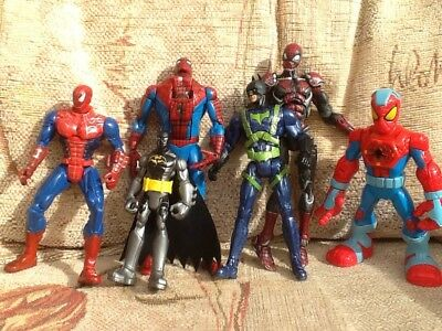 Job Lot Spiderman Figures Toys And Batman Figure DC Marvel Heroes