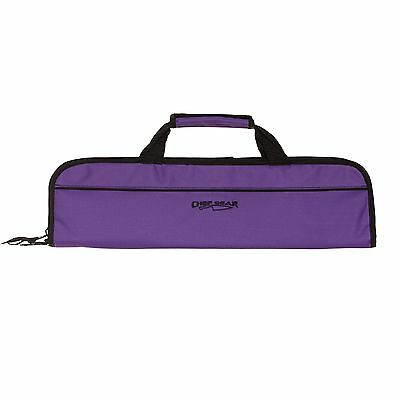 5 POCKET CHEF Knife Case Roll Bag knife bag chef bag knife roll Ergo Chef Purple