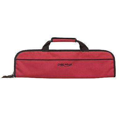 5 POCKET CHEF Knife Case Roll Bag knife bag chef bag knife roll Ergo Chef RED