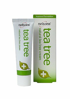 Nelsons Natural Tea Tree Cream - First Aid Antiseptic - Long Expiry Guaranteed