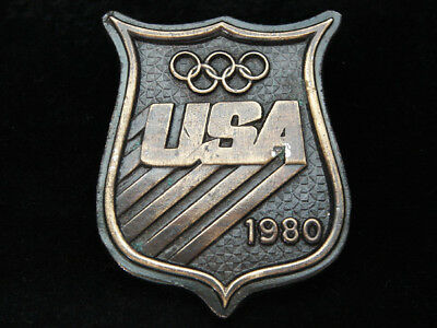 Of09118 Vintage 1980 **usa Olympic Games** Sports Commemorative Belt Buckle