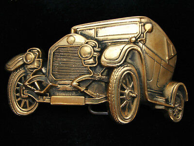 Og01147 *nos* Vintage 1978 **antique Automobile** Solid Brass Baron Belt Buckle
