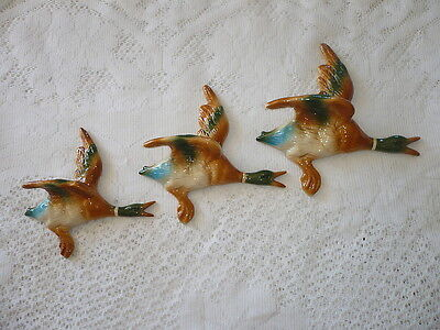 Flying Wall Hanging Ducks , Retro House Decoration , Kitch