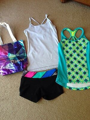 Ivivva Lot 4 Items Sz 12 Shorts Tanks Bag