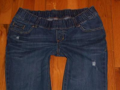 Womens Old Navy Maternity Straight Destroyed Stretch Jeans Size 8 Measures 34x30