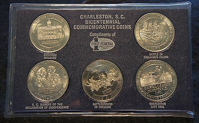 1976 Charleston Bicentennial Commemorative Coin Set in Excellent Condition!