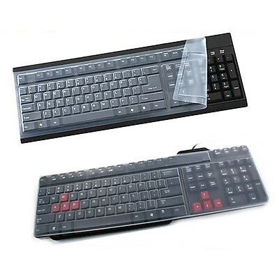 1x Universal Silicone Desktop Computer Keyboard Cover Skin Protector Film CoverE